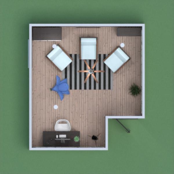 salón moderno y con plantas