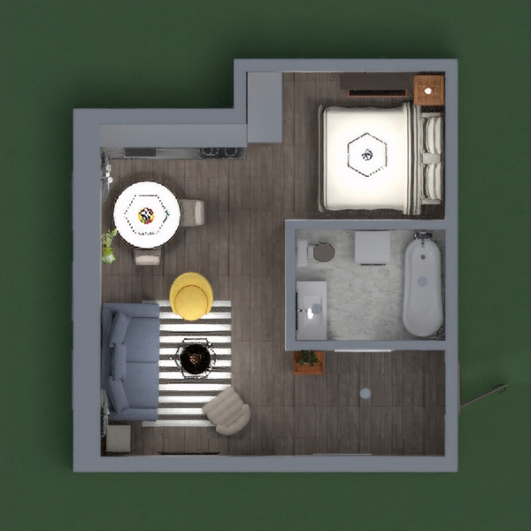 A simple design small apartment in the old town with my imagination. Related there's a brick wall, so I made it brown nuanced with a bit of other wonderfull colors. I hope you like it!!