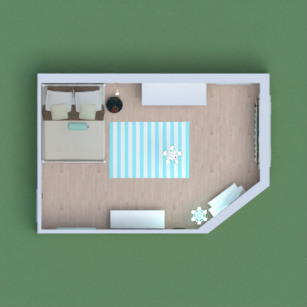 классическая спальня в светлых тонах.