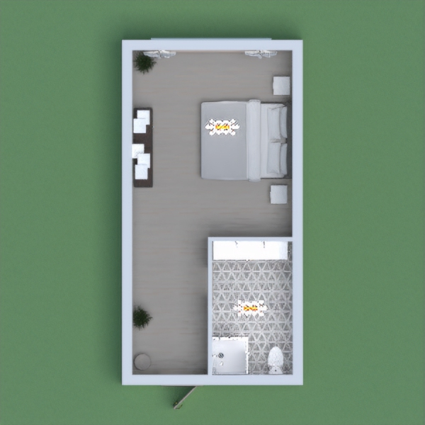a modern room with floating shelves. pls vote for me!!! comment on what u think of the design!!
