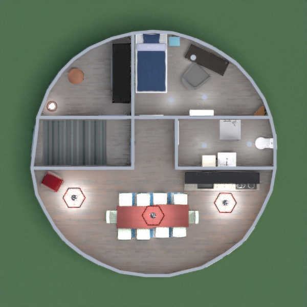 This is a modern apartment for a beginner home-owner. It has all your needs: A kitchen, a bathroom, bedroom, and a storage/entryway Hope you all enjoy my project. Have An awesome Thanksgiving!