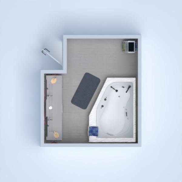 Double sink, big bathtub. Includes: - Rack - Towels - Foot mat - Mirror