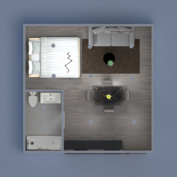 i made a modern small house with 1 bed 1 bath