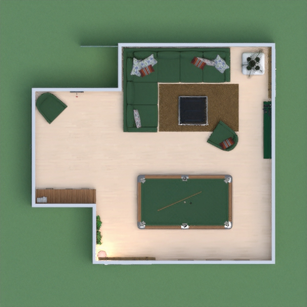 Spacious living room with billiards. Please vote for me.