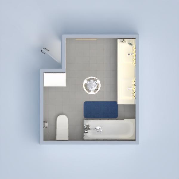 a nice bathroom, with two sinks, storage,