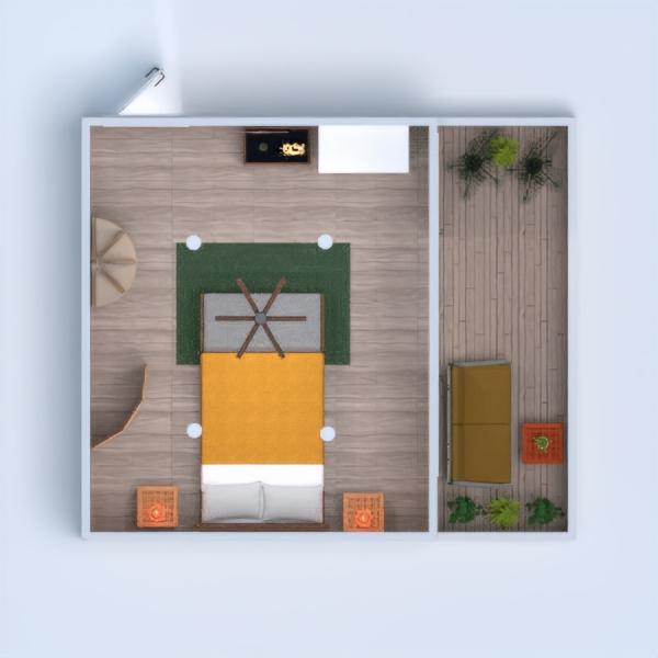 He intentado que sea fresca y con una combinación de colores claros. También he incluido maderas tropicales y colores vivos.  He intentado que no sea un ambiente recargado, ya que es una zona de descanso. Las plantas de la terraza, le dan un aire fresco y tropical, y he incluido unos muebles de terraza con unos tonos más vivos (amarillo, naranja, verde...). Espero que os guste mucho. :3