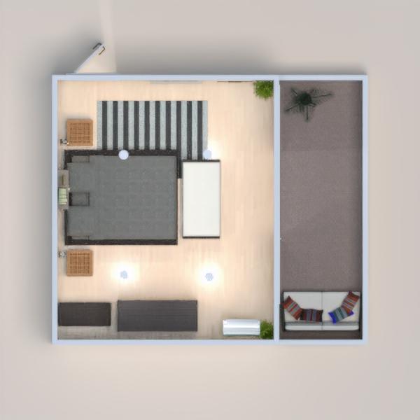 Coloquei um piso laminado mais claro para evidenciar os móveis e as paredes em um tom de verde combinando com os detalhes do ambiente