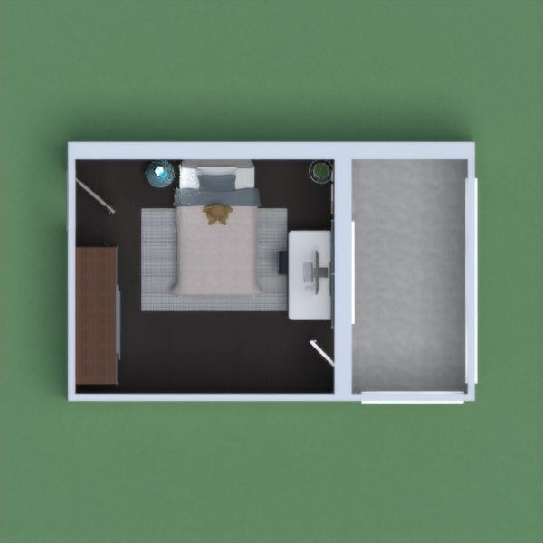 Cool blue modern bedroom