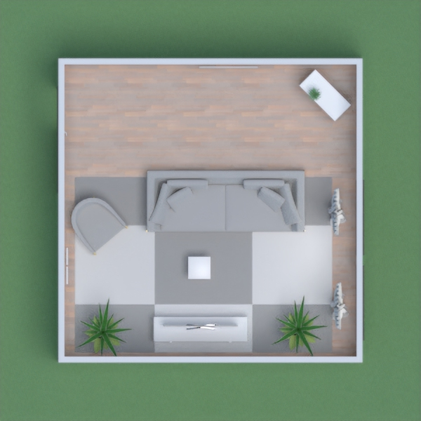 A small house with a white interior