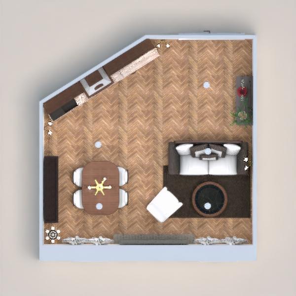 Zona cucina-living stile classico