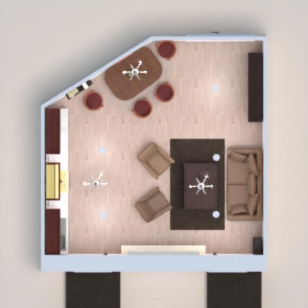 Old living living room/kitchen/dining room.