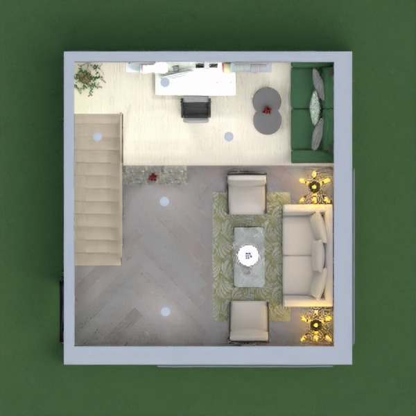 So, I designed this this house with Light green and grey theme because I have always tried blue, yellow and all but never tried these two colors together... Please comment and give your opinions .....I hope you all like it :)