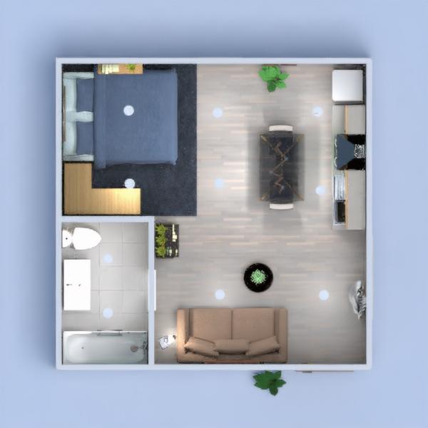 Ingresso unico ambiente, letto appartato e bagno in pietra pece