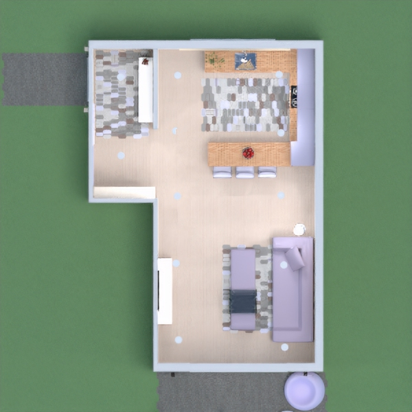 Sala sencilla con cocina. Gracias por sus comentarios y votos en mi anterior proyecto. ;)