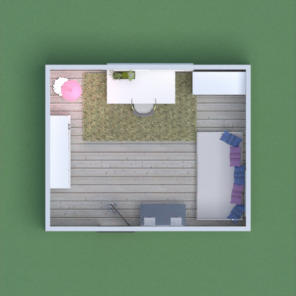 Design the bedroom for a girl with a sleeping area, studying area and a space for books and toys storing. The color of the walls should remain white.