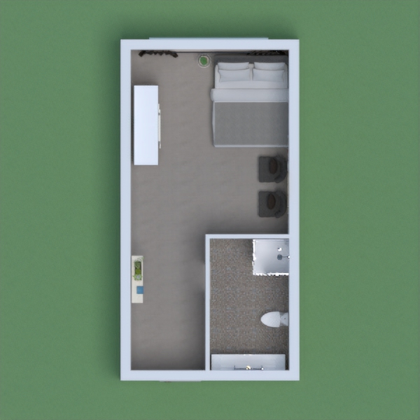 I made a modern bedroom and bathroom and I put some decor and made the outdoor walls change and the door change.