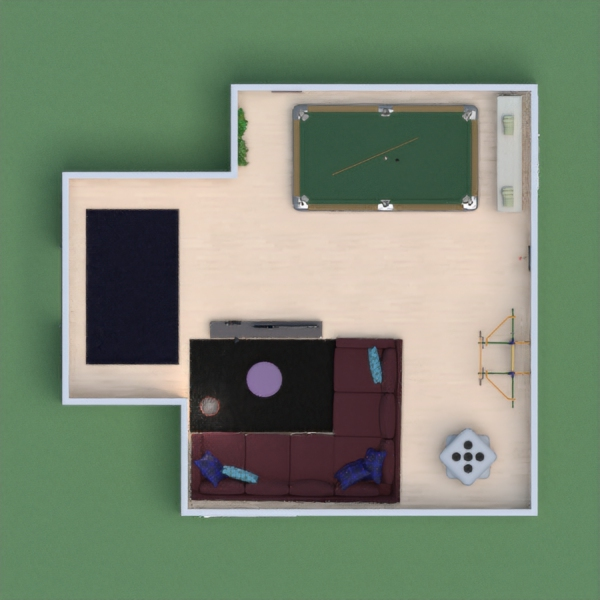 This is a cool Board game room to go on holidays with your family! (Please vote for me!)