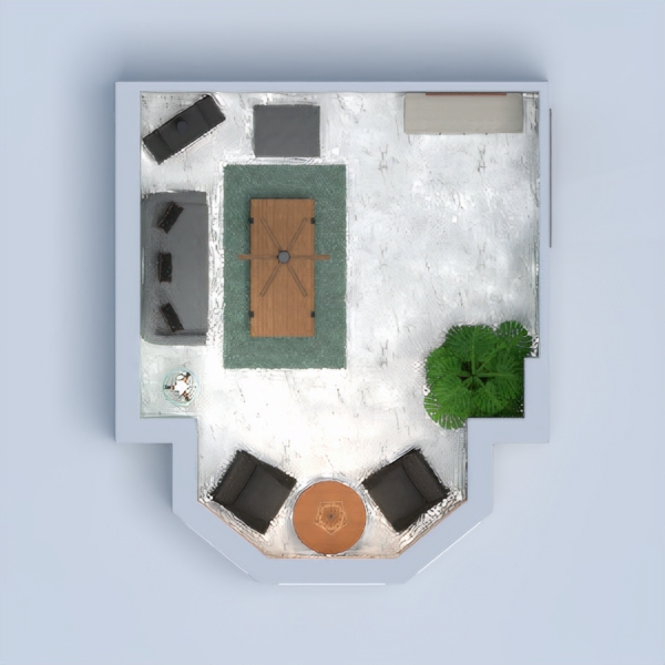 Hello everyone! I am from Indonesia. I have an idea to mix Scandinavian with Urban, so I applied green on the walls and white stone accent floor. And I mix furnitures with B&W and wood colors. I wanna make this space feel cozy and eccentric. Thank you!