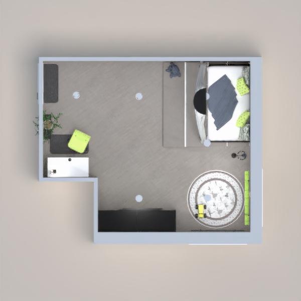 Grey&Yellow Kid's Bedroom