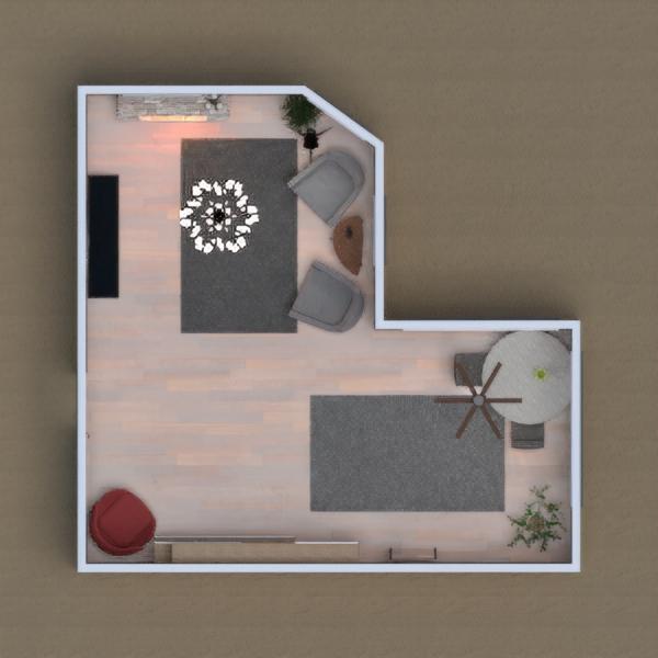 Çoğunlukla gri tonlarında bir salon ve yemek masasının olduğu bir oda tasarladım. Umarımm beğerirsiniz...