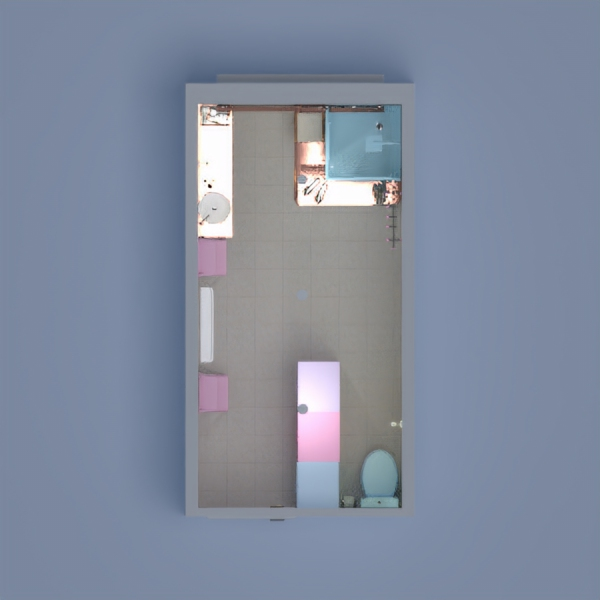 I made a pastel pink, blue, and purple bathroom! Please comment on my design and tell me what you think! -Riley