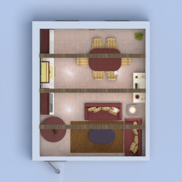 A cozy old fashioned kitchen/dining area/living room with lots of decorations and appliances.