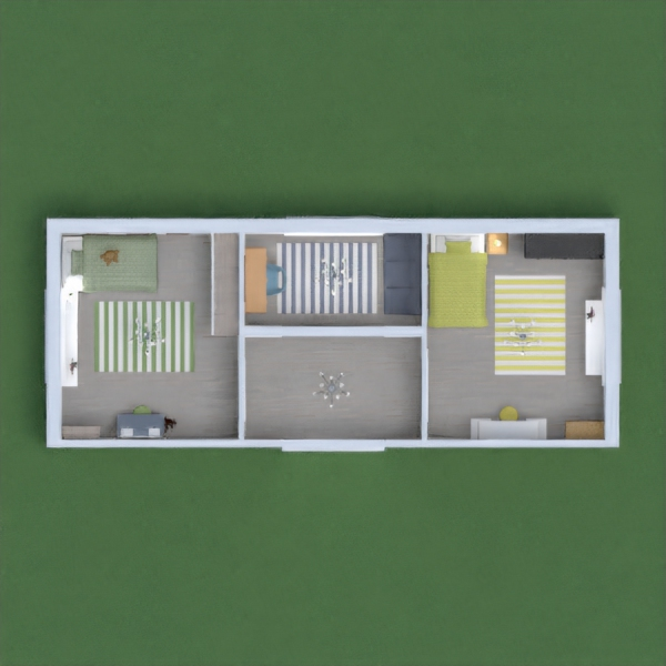 these r my bedroom, green and yellow, with another blue room. i hope u like it pls vote!