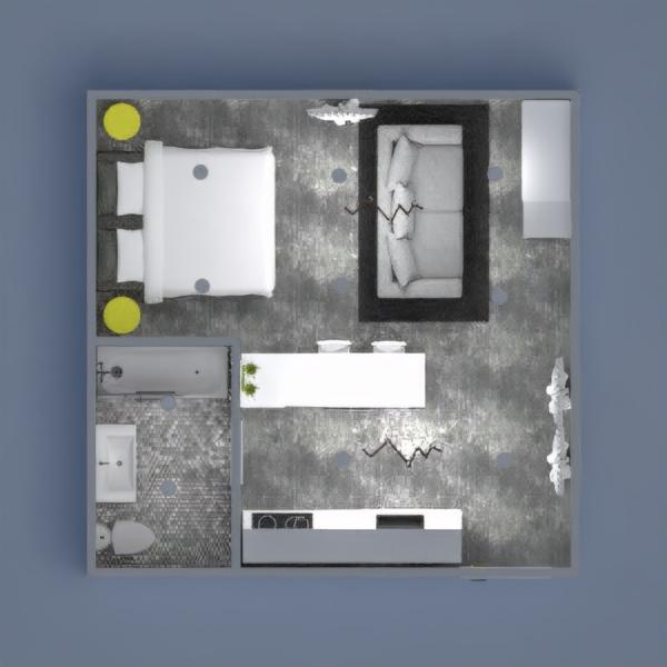 Neon yellow gray and white modern studio