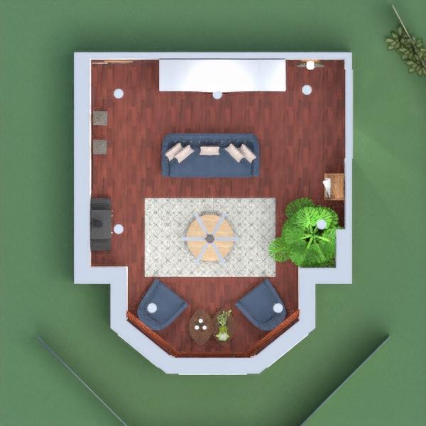 Sala de descanso con chimenea frente a una vista panoramica natural