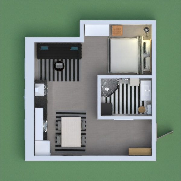 This appartment is black and white, Ihope you like it! Stay Safe:)