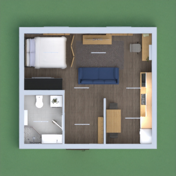 A good and little apartment with wood