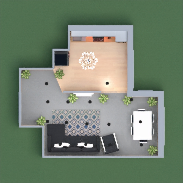 It is a modern house it is a one person modern home