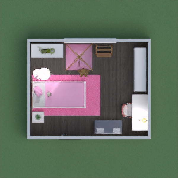 This is my Girl's Pink and White bedroom! It has books, chalk board, and a mini tipi to sit in. If you like it then please vote for me and comment below. Please get me into the top 5!  Thanks, Devendra & Paco :)