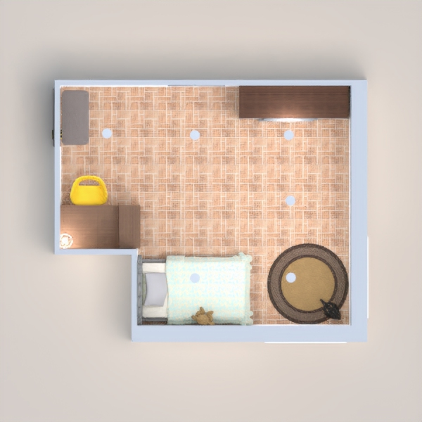 Es como me gustaria mi habitación, con mi beagle, una linda cama, mis juguetes, etc...