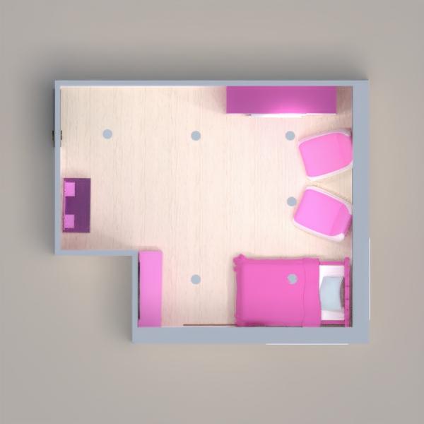 Este cuarto es rosa y blanco