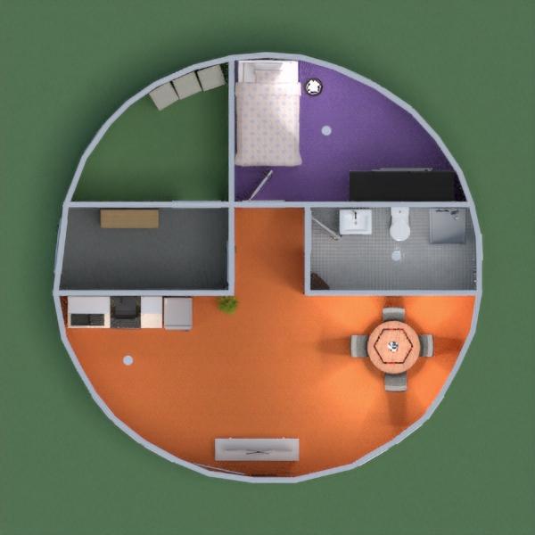 Uma casa redonda colorida para descontrair e essa é a primeira vez que eu participo então não está muito bom...