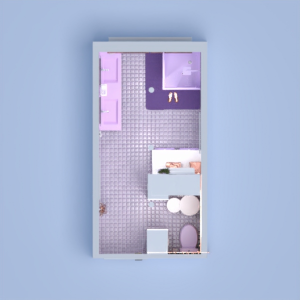 Hi! I hope you like my pastel bathroom! I went with pastel purple as my main color. And white. I hope you like the little separate toilet area for extra privacy. I made lots of storage and space. I hope you like it!
