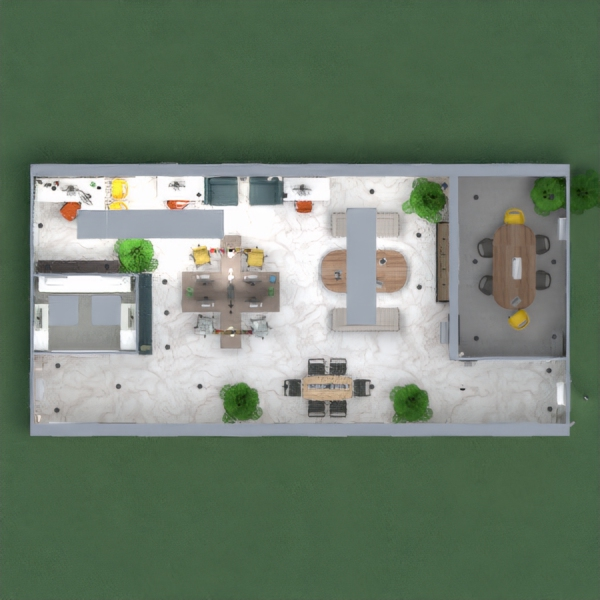 Uphouse is a modern technology based startup office with public and private meeting areas. A dedicated air conditioned server/ security room with terminal access and a power wall. Multiple work stations with supervisor nook to oversee the floor. Multiple locations for storage and resources. Bright visuals to invoke creativity while organic touches give a calming effect. Conference room is perfect for consultations or presentations.  This was a reclaimed brick building  that now contains 100% led lighting and low power consumption.