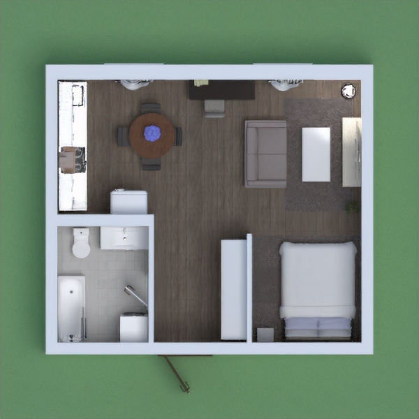 a nice small apartment,