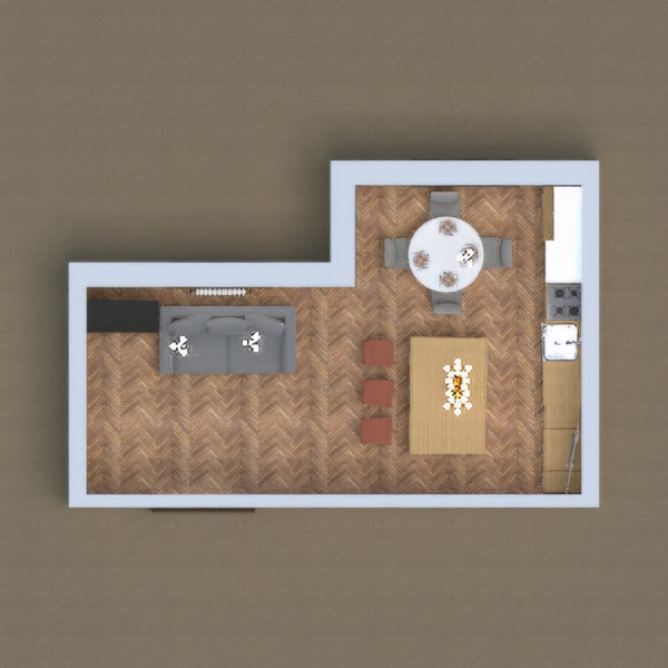 only kitchen and dining room house