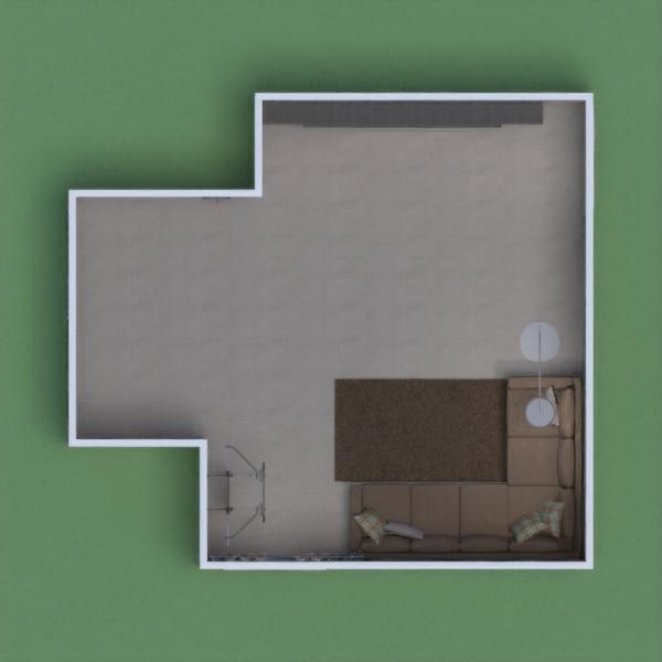 игровая комната в серо-коричневых тонах.
