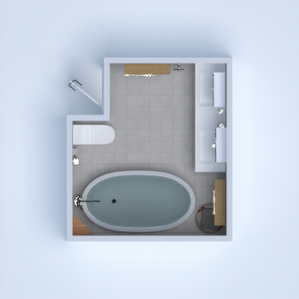 It's a little bathroom for people that like little spaces
