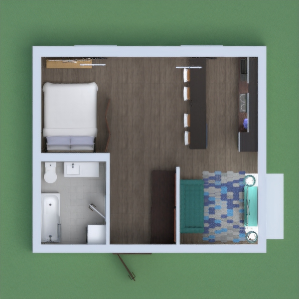 this is a basic apartment with great spacing