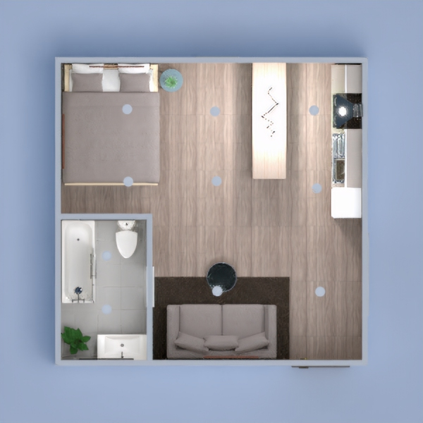 This is a small apartment that I am not too proud of. I definitely would not live there. But it was fun to make!