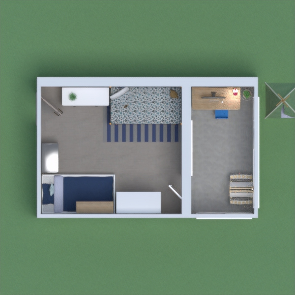 habitación moderna, muy luminosa y no esta muy recargada. perfecta para adolescentes y niños de 7 a 16 años.