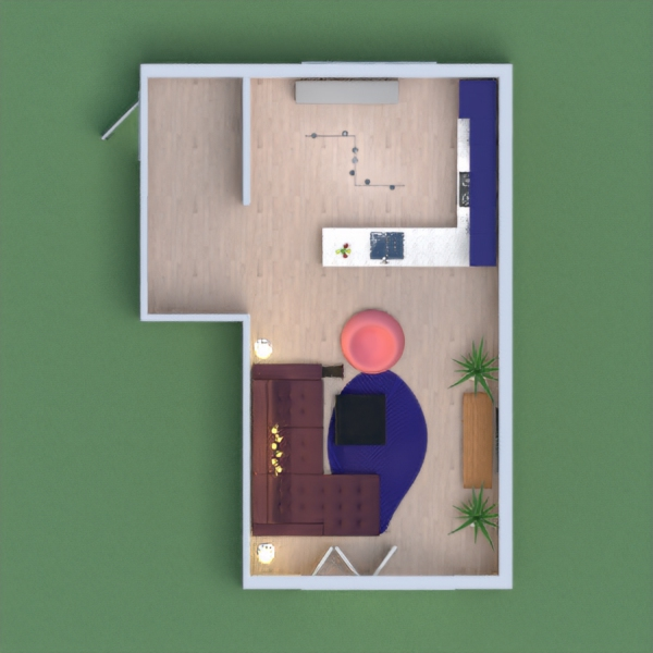 Hi, I hope you like my Kitchen with a living room:)  I like a lot of blue and purple! Pls write in the comments what I could do better next time, and how I could improve it:) Stay safe, and please vote for me!!!!