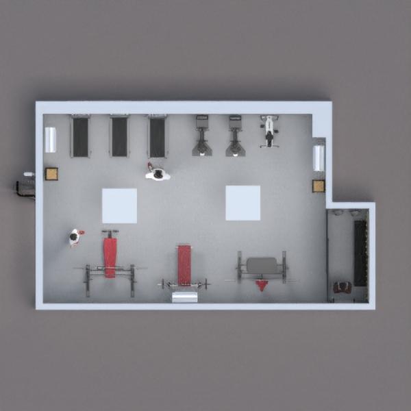 ho voluto creare una palestra con uno spazio dove ci si può rilassare, in caso di troppa stanchezza. i tapirulan li ho voluti mettere davanti alle finestre, in modo che sembrasse di correre all' esterno