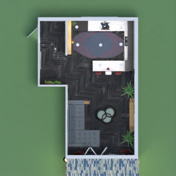 Cuisine,petit salon et sa terrasse