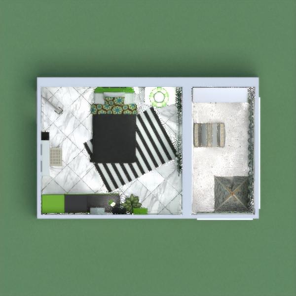 kids room with toys corner -Black & Green