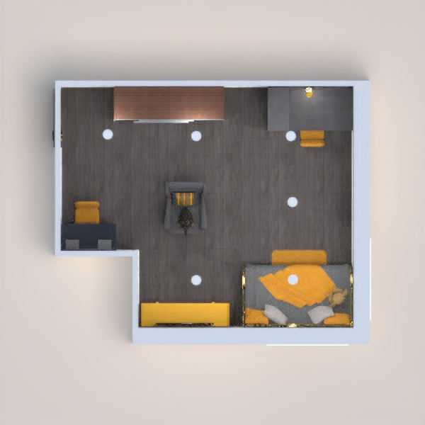 Hi! I made a confurting gray and yellow small house/room! Hope you like it!!!